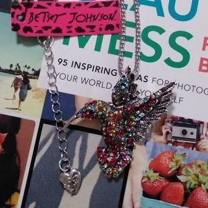2/ $25 🐦 Betsey Johnson Hummingbird Necklace
